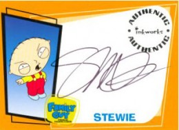 2005 Inkworks Family Guy Season 1 Autographs A1 Seth McFarlane as Stewie Griffin