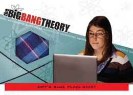 Cryptozoic Big Bang Theory Seasons 3 and 4 Wardrobe Costume Cards Amy's Blue Plaid Shirt