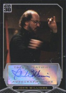 2007 Topps Star Wars 30th Anniversary John Williams Autograph
