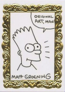 SkyBox Simpsons Series 1 Art de Bart Sketch Cards Matt Groening - Bart