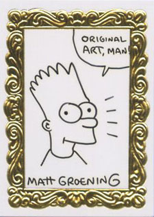 1993 SkyBox Simpsons Series 1 Art DeBart Sketch Card
