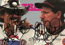 1992 Traks Autograph Series A1 Richard Petty Dale Earnhardt