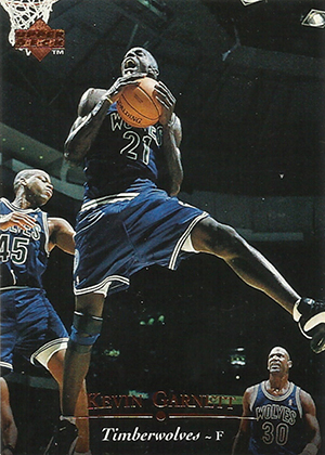 Kevin Garnett Cards - 1995-96 Upper Deck RC