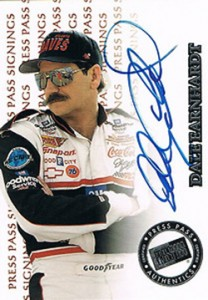 1999 Press Pass Signings Dale Earnhardt