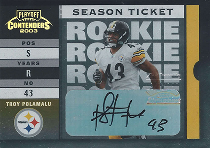 2003 Playoff Contenders Rookie Ticket Autographs Troy Polamalu