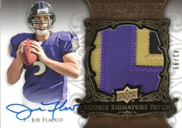 2008 Upper Deck Exquisite Joe Flacco RC