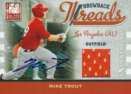 2009 Elite Extra Edition Throwback Threads Autographs Mike Trout