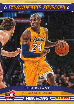 2012-13 Panini NBA Jam Session Basketball Franchise Greats Kobe Bryant