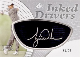 2012 SP Game Used Inked Drivers Black Tiger Woods 260x186 Image