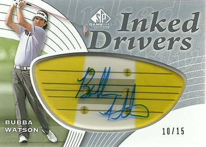 2012 SP Game Used Inked Drivers Bubba Watson
