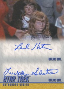 2013 Star Trek TOS Heroes and Villains Dual Autographs DA5