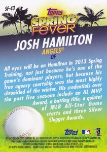 2013 Topps Baseball Spring Fever Checklist and Guide 2