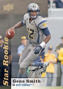 2013 Upper Deck Football Star Rookie Autographs Geno Smith 214x300 Image