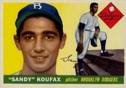 Sandy Koufax Cards - Vintage Baseball Card Timeline 1