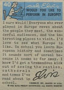 1956 Topps Elvis Presley Trading Cards 2