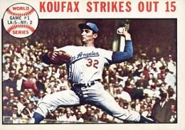 Sandy Koufax Cards - Vintage Baseball Card Timeline 21