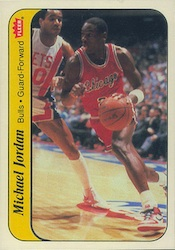 Michael Jordan Inserts - 1986-87 Fleer Stickers Michael Jordan #8