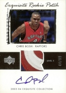 Chris Bosh Cards, Rookie Card Checklist and Autograph Memorabilia Guide 1