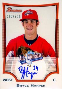 2010 Bowman Draft AFLAC Autographs Bryce Harper