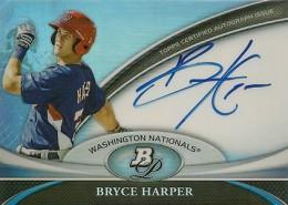 2011 Bowman Platinum Bryce Harper Autograph