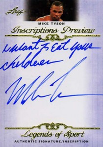 2012 Leaf Inscriptions Autographs Mike Tyson