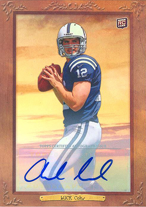 2012 Topps Turkey Red Football Andrew Luck Autograph