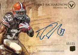 2012 Topps Valor Football Valor Autographs Guide 39