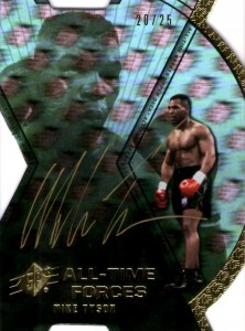 2012 Upper Deck All-Time Greats SPx All-Time Forces Mike Tyson Autograph