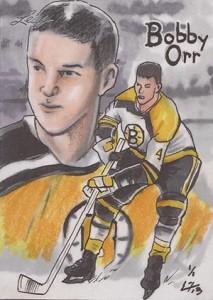 2013 Leaf Best of Hockey Sketch Card Guide 9