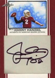 Johnny Manziel Autographs Confirmed as Leaf Mystery Redemption 2