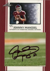 Johnny Manziel Autographs Confirmed as Leaf Mystery Redemption 1