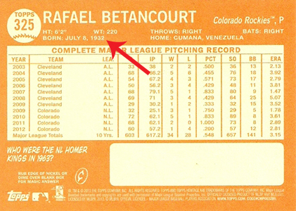 2013 Topps Heritage Baseball Variation Short Prints and Errors Guide 49