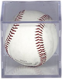Baseball Display Cases - Signed Square Baseball Display