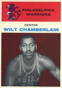 1961-62 Fleer Basketball #8 Wilt Chamberlain RC