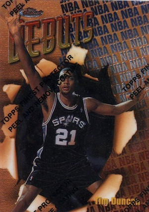 Tim Duncan Rookie Card Gallery and Checklist 4
