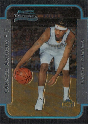 Top 10 Carmelo Anthony Rookie Cards 1