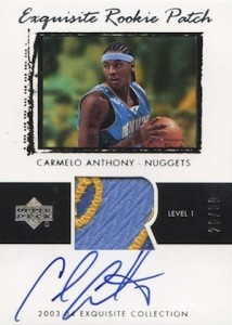 Top 10 Carmelo Anthony Rookie Cards 10