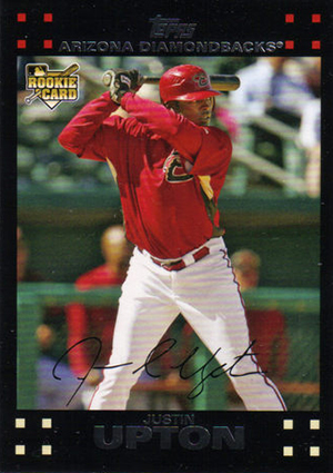 Justin Upton cards - 2007 Topps Updates RC