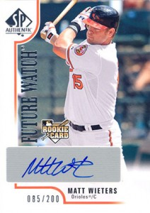 2009 SP Authentic Matt Wieters RC