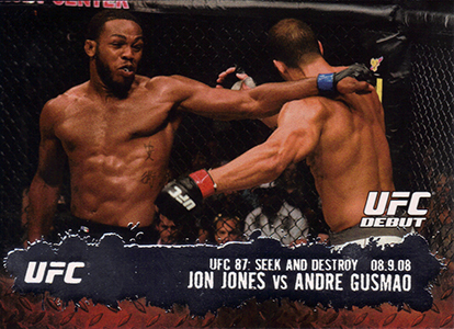 Jon Jones cards - 2009 Topps UFC Jon Jones RC