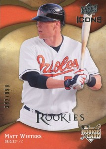 2009 Upper Deck Icons Matt Wieters RC