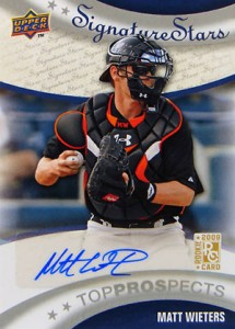 2009 Upper Deck Signature Stars Matt Wieters