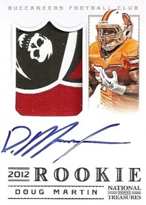 2012 Panini National Treasures Football Rookie Signature Materials 311 Doug Martin