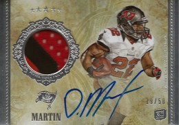 Doug Martin Cards and Autograph Memorabilia Guide 4