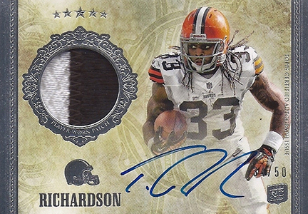 Trent Richardson Cards, Rookie Cards and Autographed Memorabilia Guide 1