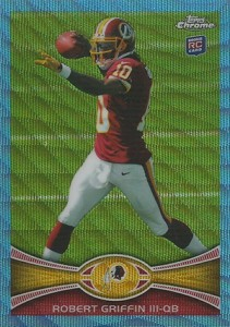 2012 Tops Chrome Football Blue Wave Refractor Robert Griffin III