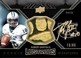 2012 Upper Deck Exquisite Football Black Lustrous Robert Griffin III