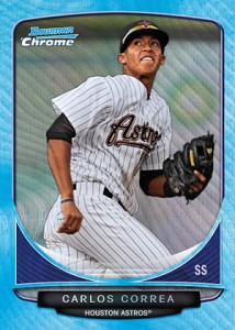 2013 Bowman Baseball Blue Wave Refractor Wrapper Redemption Details 1