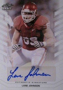 2013 Leaf Draft Autographs Lane Johnson