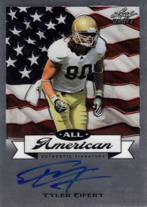 2013 Leaf Metal Draft All-American Autographs Tyler Eifert